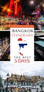 Bangkok Itinerary 5 days